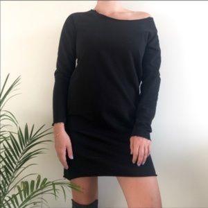 ASOS Off Shoulder Sweatshirt Dress